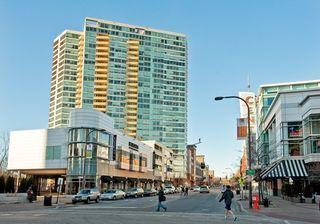 Evanston Illinois optima bldg on Maple